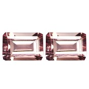 Morganite 1.17 CTS IF Paire