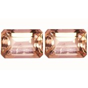 Morganite 1.30 CTS Paire