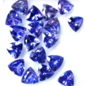 Tanzanite 3.48 CTS IF 16 Pièces